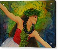 Hulakahiko Acrylic Print by Luane Penarosa