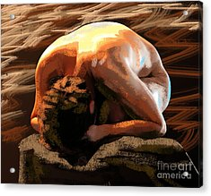 Human Stone Acrylic Print