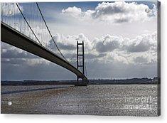 Humber Bridge. Acrylic Print by Andrew Barke