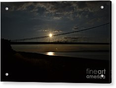 Humber Bridge Sunset Acrylic Print