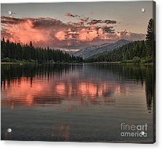 Hume Lake Sunset Acrylic Print by Terry Garvin