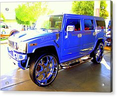 Hummer Too Blue Acrylic Print by Don Struke