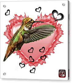 Acrylic Print featuring the painting Hummingbird - 2055 F S M by James Ahn