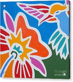 Hummingbird Number One Acrylic Print by Stephen Davis