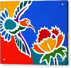 Hummingbird Number Two Acrylic Print by Stephen Davis