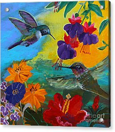Hummingbirds Prayer Warriors Acrylic Print