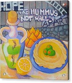 Hummus Behind A Wall Acrylic Print