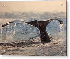 Acrylic Print featuring the painting Humpback by Stan Tenney