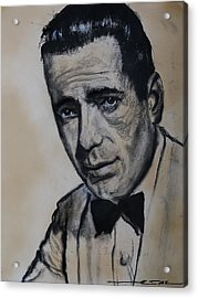 Acrylic Print featuring the drawing Humphrey Deforest Bogart -1  by Eric Dee