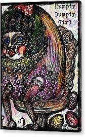 Humpty Dumpty Parody Acrylic Print by Akiko Okabe