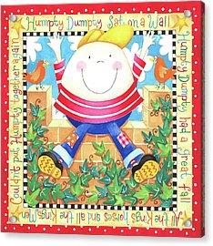 Humpty Dumpty Acrylic Print by P.s. Art Studios