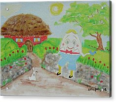 Acrylic Print featuring the painting Humpty's House by Diane Pape