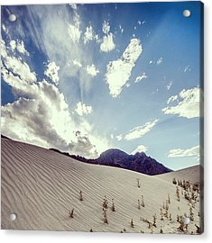Sand And Clouds Acrylic Print
