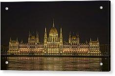 Hungarian Parliament Building Night Acrylic Print