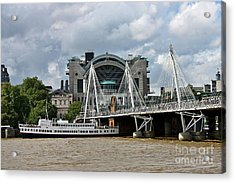 Hungerford Bridge And Charing Cross Acrylic Print