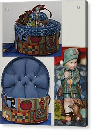 Hunter Boy And Dog Sewing Box Acrylic Print by Shirley Heyn