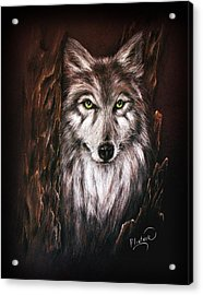 Hunter In The Night Acrylic Print