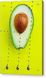 Acrylic Print featuring the photograph Hunters Depicting Rutherford Atomic Model By Avocado Food Physics by Paul Ge