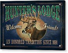 Hunters Lodge Deer Acrylic Print by JQ Licensing