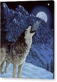 Hunters Moon Acrylic Print by Rick Bainbridge
