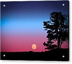 Acrylic Print featuring the photograph Hunter's Moonrise In Eastern Arizona by John Haldane