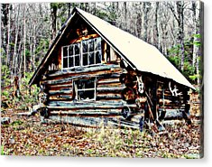 Hunting Camp Acrylic Print by Marie Fortin