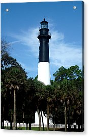 Acrylic Print featuring the photograph Hunting Island Lighthouse by Ellen Tully