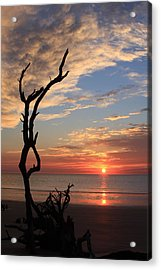 Hunting Island Sunrise Acrylic Print by Mountains to the Sea Photo
