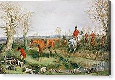 Hunting Scene Acrylic Print by Henry Thomas Alken