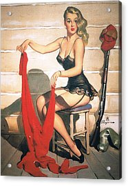 Hunting Time - Retro Pinup Girl Acrylic Print by Tilen Hrovatic