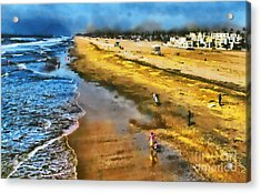 Huntington Beach Acrylic Print by Clare VanderVeen