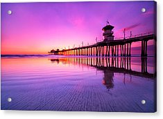 Huntington Beach Acrylic Print by Lincoln Harrison
