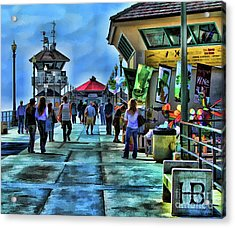 Acrylic Print featuring the photograph Huntington Beach Pier by Clare VanderVeen