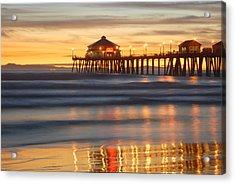 Huntington Beach Pier Acrylic Print by Dung Ma
