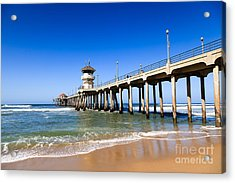 Huntington Beach Pier In Southern California Acrylic Print by Paul Velgos