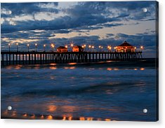 Huntington Beach Pier Lights  Acrylic Print