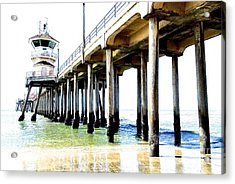 Huntington Beach Pier Acrylic Print by Margie Amberge