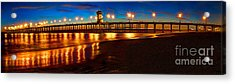 Acrylic Print featuring the photograph Huntington Beach Pier Twilight Panoramic by Jim Carrell