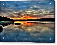 Acrylic Print featuring the photograph Huntington Beach Sunset by Ed Roberts