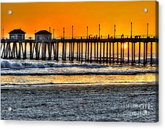 Acrylic Print featuring the photograph Huntington Beach Sunset by Jim Carrell