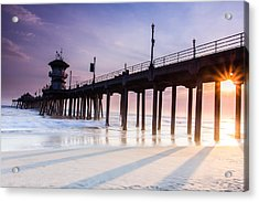 Huntington Pier Acrylic Print