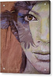Huntress Acrylic Print by Michael Creese