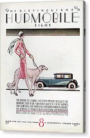 Hupmobile  1926 1920s Usa Cc Cars Dogs Acrylic Print by The Advertising Archives