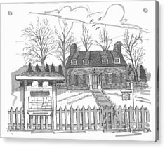 Acrylic Print featuring the drawing Hurley Historical Society by Richard Wambach