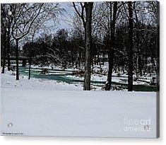 Huron River In Monroeville Acrylic Print