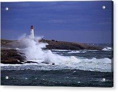 Hurricane Arthur 2014 Hits Peggy's Cove Acrylic Print