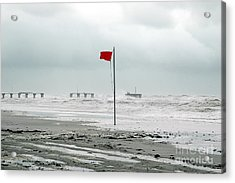 Hurricane At Gulf Shores Alabama Acrylic Print
