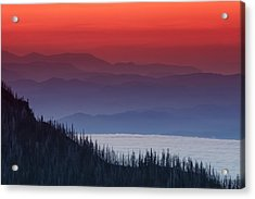 Hurricane Ridge Sunset Acrylic Print