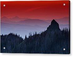 Hurricane Ridge Sunset Vista Acrylic Print by Mark Kiver
