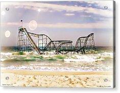 Hurricane Sandy Jetstar Roller Coaster Sun Glare Acrylic Print by Jessica Cirz